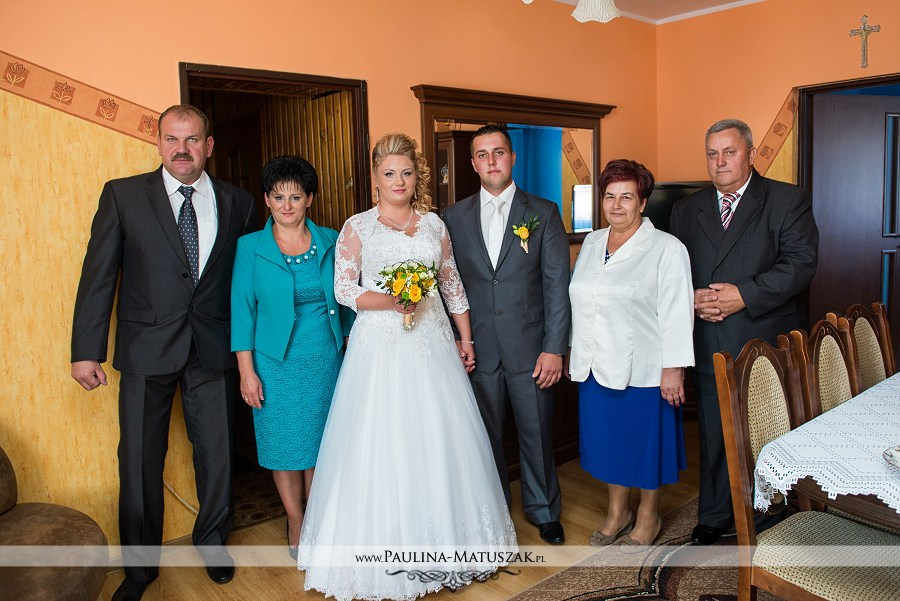 Zdjęcie ślubne z rodzicami